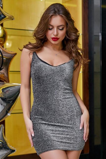 Платье Платье 1272.3914 серебро (S, M, L)