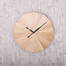 Деревянные настенные часы DABO Flower. Natural.