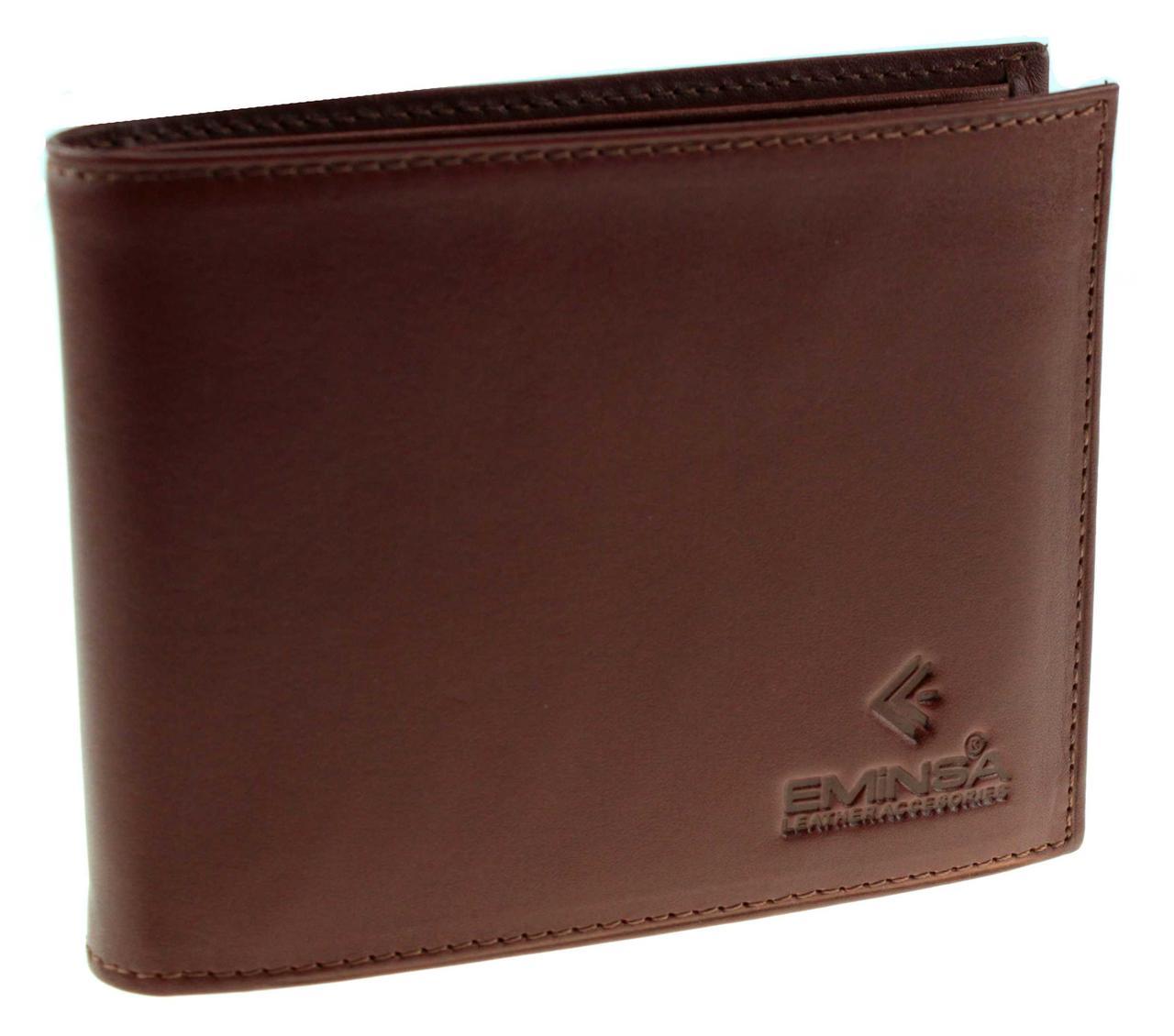 Мужское портмоне Eminsa 1014-19-2 кожаное светло-коричневое