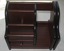Органайзер, подставка офисная, лоток для папок дерево № 8027