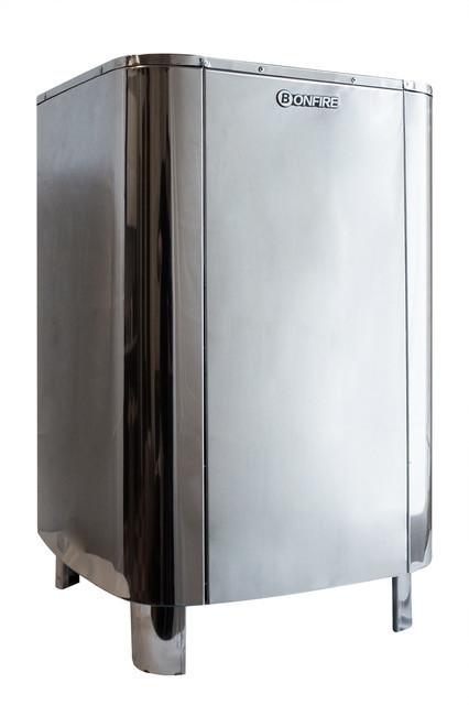 Напольная электрическая печь для сауны Bonfire SA-105В 10.5 кВт объем парной 9-15 м.куб с пультом