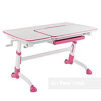 Стіл парта-трансформер для дівчинки FunDesk Amare Pink, фото 1