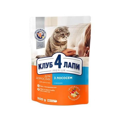 Сухой корм для взрослых кошек С ЛОСОСЕМ CLUB 4 PAWS PREMIUM 14 кг