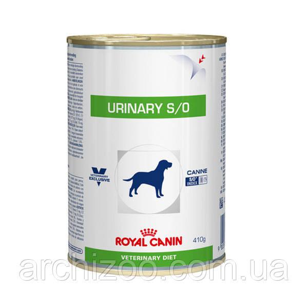 Royal Canin urinary s/o 410г*12шт - диета для собак при мочекаменной болезни