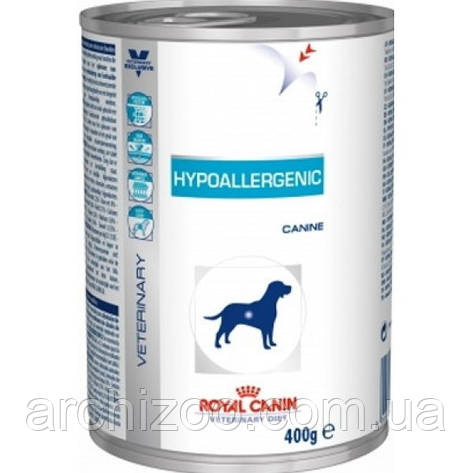 Royal Canin hypoallergenic 12шт*400г-консерва для собак при пищевой аллергии, фото 2