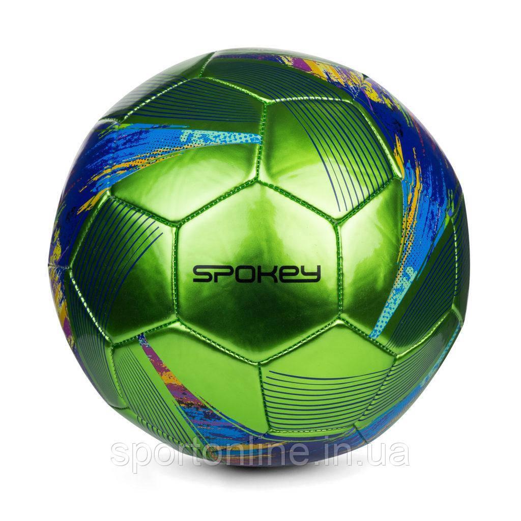 Футбольный мяч Spokey PRODIGY, размер №5, зеленый с рисунком