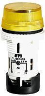 Лампа сигнальная матовая TL04X1 240V AC (желтая), ETI, 4770247