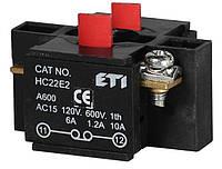 Блок-контакт HC22E2 2НЗ для корп., ETI, 4770385