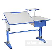 Парта-трансформер для школьника FunDesk Ballare Blue с выдвижным ящиком, фото 1