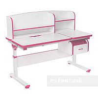 Регулируемая парта с надстройкой FunDesk Creare Pink и выдвижным ящиком, фото 1