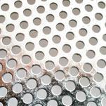 Сетка с круглыми ячейками сита лабораторного металлопробивного