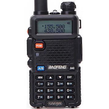 Рация Baofeng UV-5R Black + Гарнитура Baofeng c кнопкой РТТ