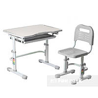 Комплект парта + стілець трансформери Vivo Grey FUNDESK