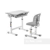 Комплект парта + стул трансформеры Piccolino III Grey FunDesk, фото 1