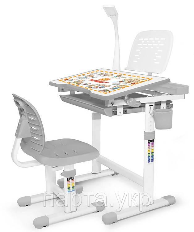 Комплект парта и стульчик Evo-Kids Evo-10 (с лампой и подставкой)