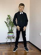 Стильный и элегантный комплект для мальчика в черном цвете