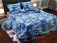 """Семейный набор хлопкового постельного белья из Бязи """"Gold"""" №15000 Черешенка™"""