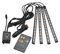 Цветная подсветка для авто водонепроницаемая HR-01678 RGB LED