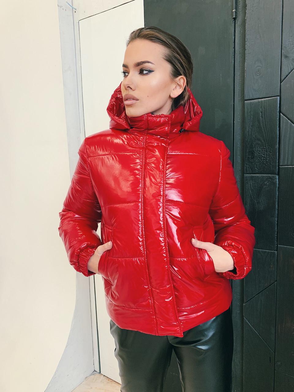 Демисезонная куртка К 0021 с 02 красная
