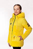 Удлиненная весенняя куртка с яркой подкладкой для девочки 34-44 р, фото 1