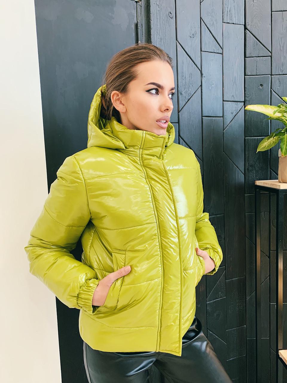 Демисезонная куртка К 0021 с 03 зеленый