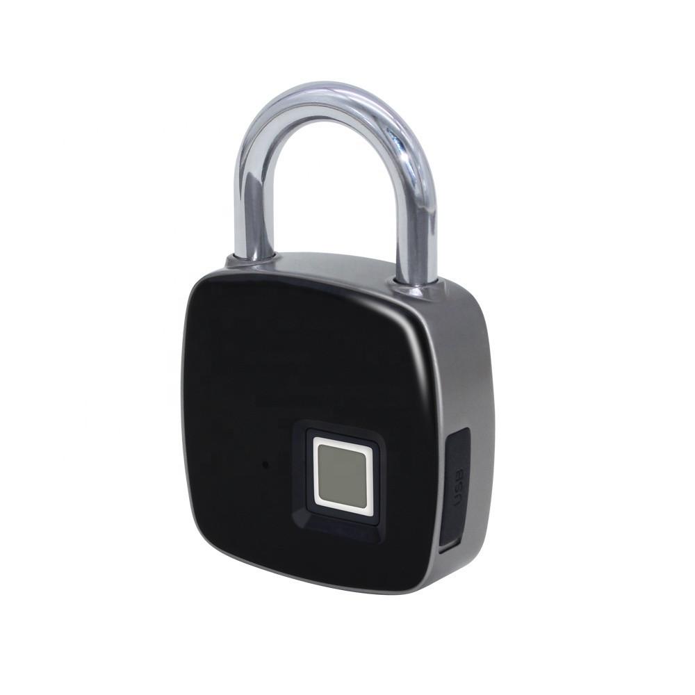Умный водонепроницаемый навесной смарт замок с отпечатком пальца Черный (G101001165)