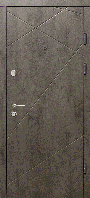 Входные двери  бетон темный / бетон светлый АБ-2