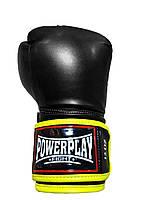 Боксерські рукавиці PowerPlay 3074 чорні 10  12 унц