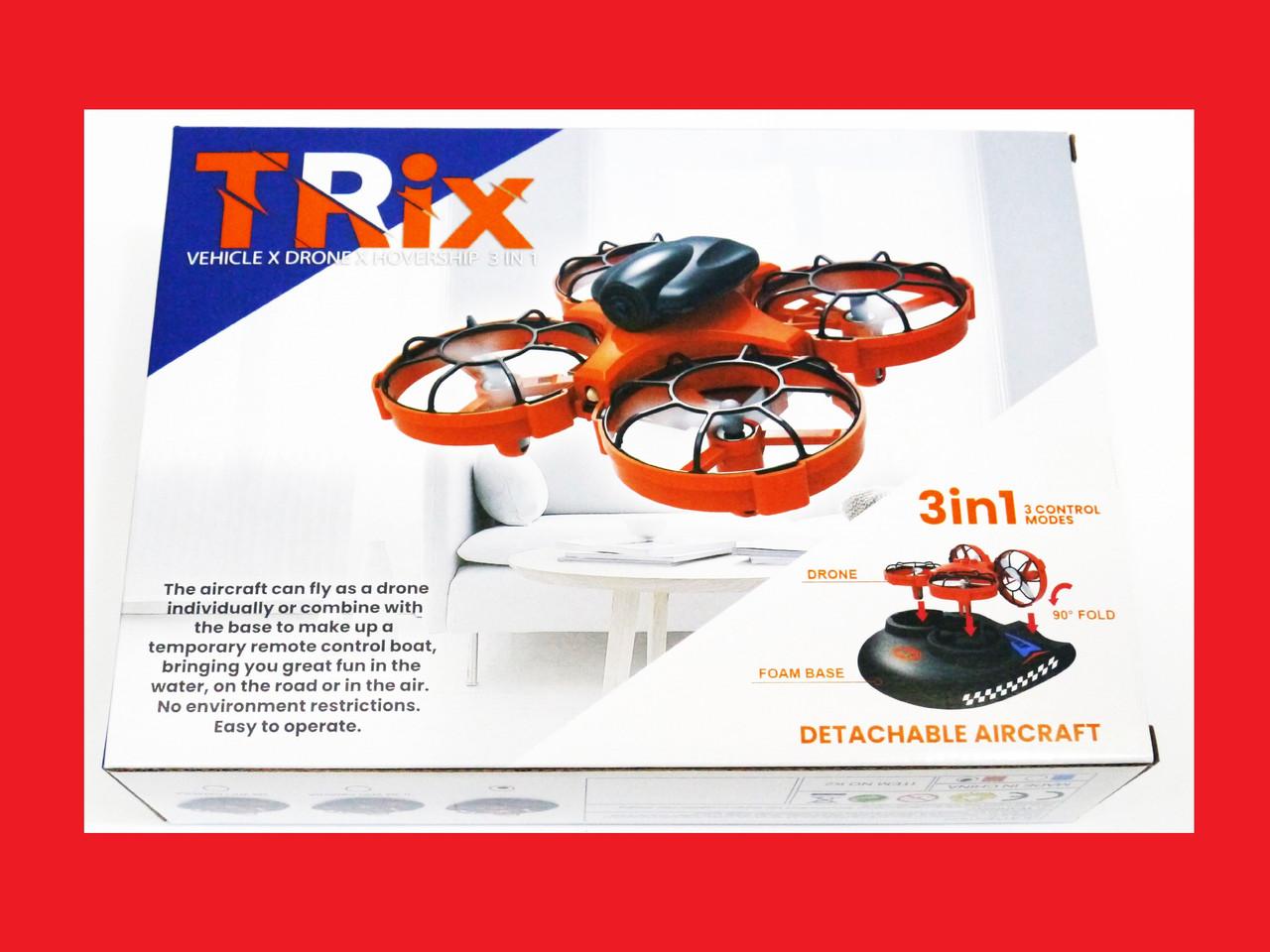 Радиоуправляемый квадрокоптер Trix K2 2в1