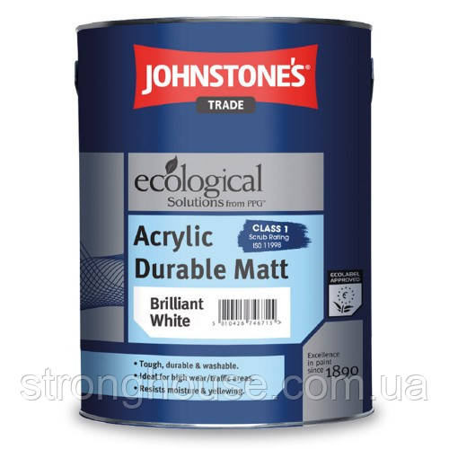 Johnstone's Acrylic Durable Matt 10л Акриловая матовая краска Джонстоун Акрил Дурабл Мат.
