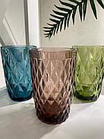 Набор стаканов из цветного стекла Изумруд кедр(6 шт.)