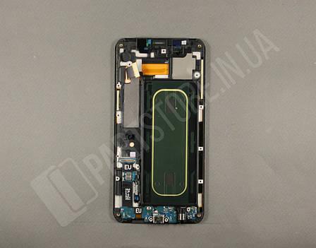 Дисплей Samsung G928 blue S6 Edge Plus (GH97-17819B) сервисный оригинал в сборе с рамкой, фото 2