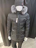 Зимняя мужская куртка, пуховик удлиненный с капюшоном