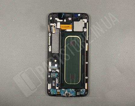 Дисплей Samsung G928 gold S6 Edge Plus (GH97-17819A) сервисный оригинал в сборе с рамкой, фото 2
