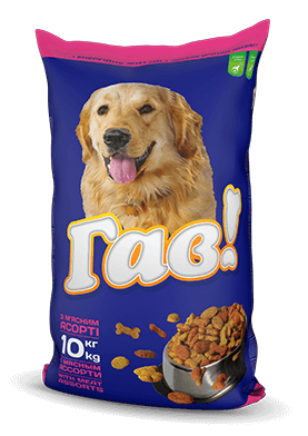 ГАВ 10 кг. Сухий корм для дорослих собак «з м'ясним асорті»