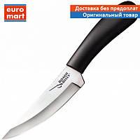 Нож фиксированный Cold Steel Roach Belly (длина:216мм, лезвие:114мм), черный, ножны кордура