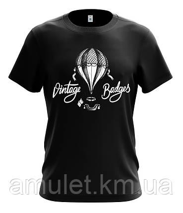 """Футболка мужская с рисунком """"Воздушный шар винтаж"""", фото 2"""