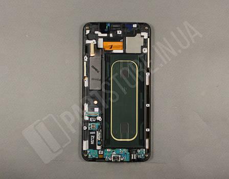 Дисплей Samsung G928 silver S6 Edge Plus (GH97-17819D) сервисный оригинал в сборе с рамкой, фото 2