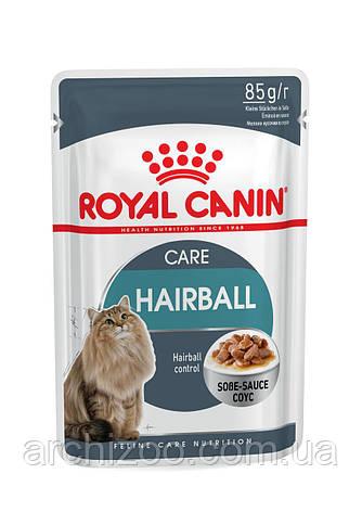 Royal Canin Hairball Care 85г*12шт - паучи для котов вывод волосяных комочков, фото 2
