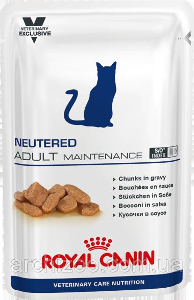 Royal Canin Neutered Adult Maintenance 100г*12шт - паучи для кастрированных / стерилизованных котов и кошек