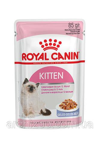 Royal Canin Kitten Instinctive (кусочки в соусе) 85г*12шт-паучи для котят от 4 до 12 месяцев, фото 2