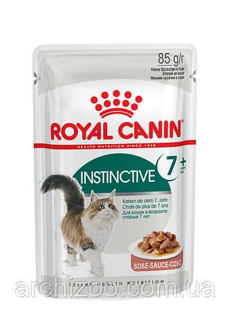 Royal Canin Instinctive +7 в соусе 85г*12шт-паучи для кошек старше 7 лет, фото 2
