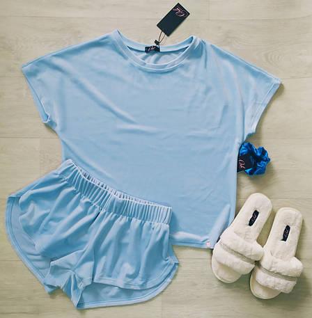 Небесно голубая пижама шорты и футболка TM Orli, фото 2