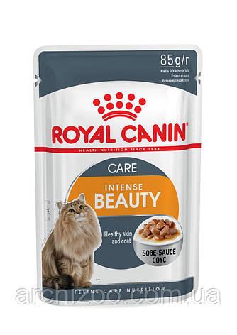 Royal Canin Intense Beauty в соусе  85г*12шт-паучи для поддержания красоты  шерсти кошек, фото 2