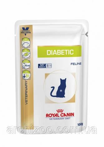 Royal Canin Diabetic Feline 100 гр*12шт диета для кошек при сахарном диабете, фото 2
