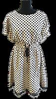 Сукня молочна в горошок 1128, фото 1