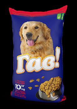 ГАВ 10 кг. Сухий корм для дорослих собак «З телятиною та рисом»
