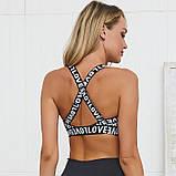 Спортивный женский костюм для фитнеса бега йоги. Спортивные лосины леггинсы топ для фитнеса. Размер L, фото 4