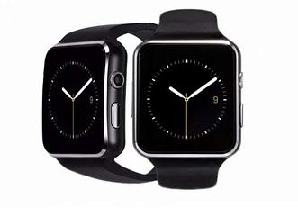 Смарт-часы Smart Watch X6 Black Android (совместимость с Android и ios)