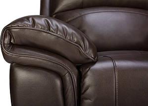 Кресло электро-реклайнер Миллер эко-кожа коричневый TM Bellini, фото 3